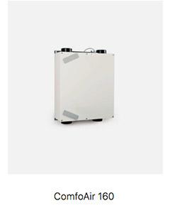 Sistema de ventilación mecánica Passivhaus Comfoair 160