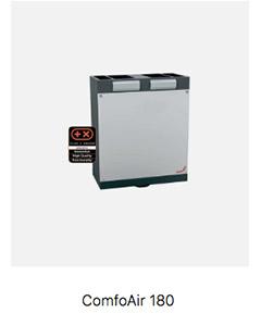 Sistema de ventilación forzada Passivhaus Comfoair 180