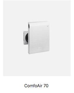 Sistema de ventilación Passivhaus Comfoair 70