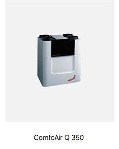 Sistema de ventilación doble flujo Passivhaus Comfoair Q 350
