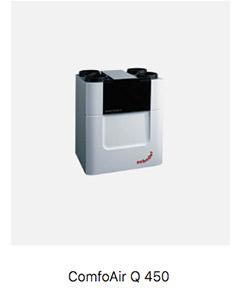 Sistema de ventilación con recuperador de calor Passivhaus Comfoair Q 450