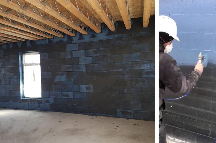 Blowerproof Liquid, es la solución para el sellado hermético y control de vapor de los muros y los diferentes encuentros de la envolvente de la vivienda
