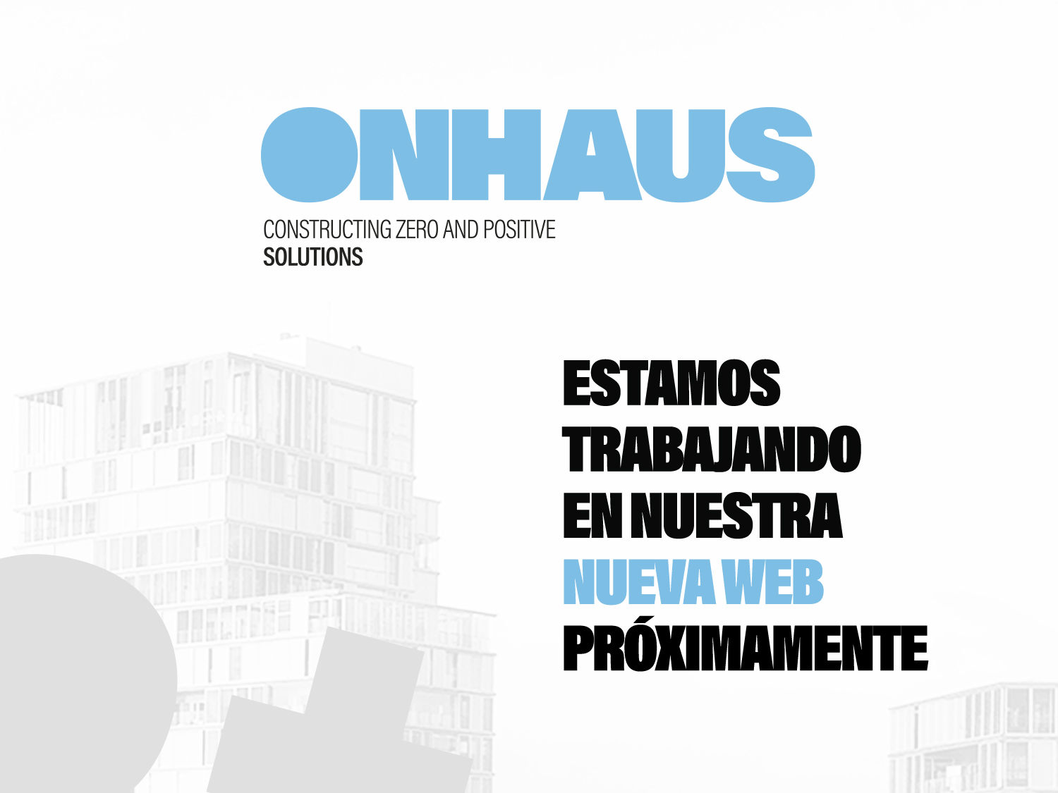 Onhaus Working Progress